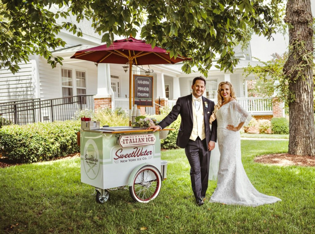 Wedding Photoshoot Vintage Italian Ice Cart
